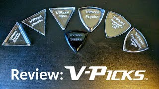 V-Picks: Grippy acrylic shards for your guitar!