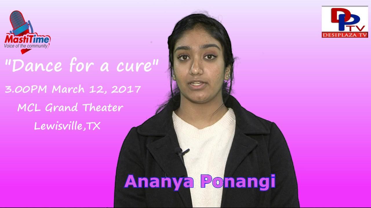 "Ananya Ponangi Invites for ""Dance for a Cure"" event    DesiplazaTV    Dallas Fundraising Event"