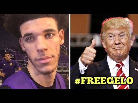 Lonzo Ball Reacts To President Donald Trump Helping LiAngelo Ball For Stealing In China