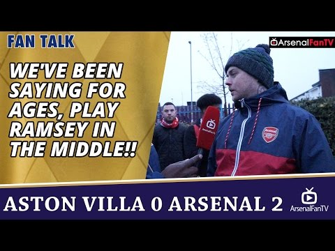 We've Been Saying For Ages, PLAY RAMSEY IN THE MIDDLE!! | Aston Villa 0 Arsenal 2
