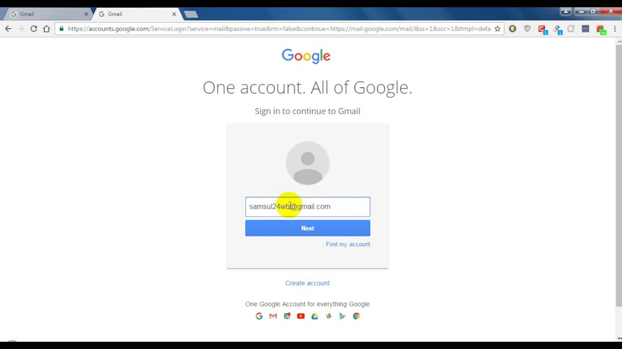 How To Login Gmail Account With Check Your Inbox Mail Youtube