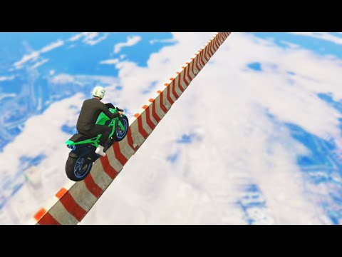Impossible Mile High Bike Stunt (GTA 5 Funny Moments)
