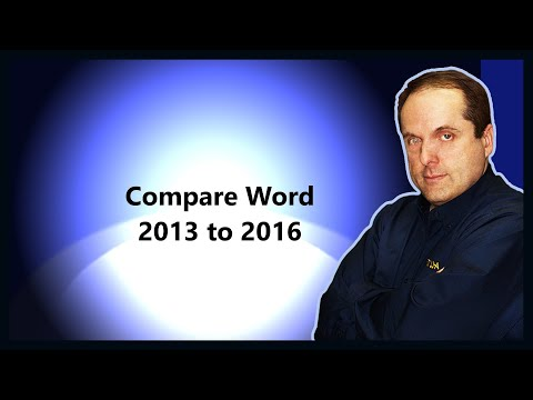 Compare Word 2013 to 2016