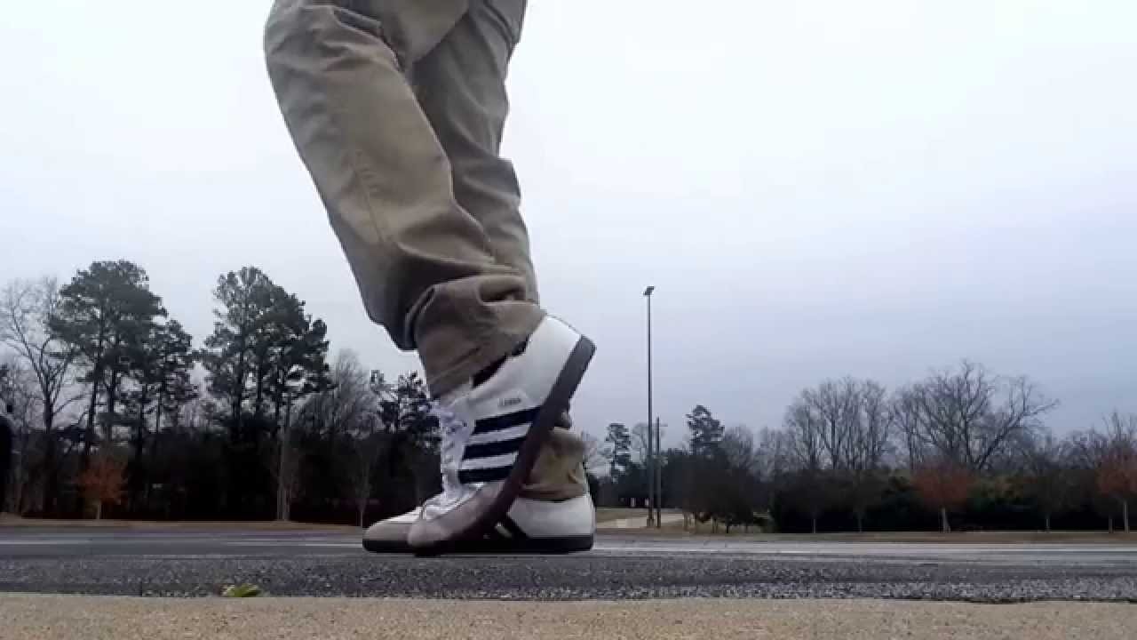 Adidas samba on feet - YouTube 2f57e87b9