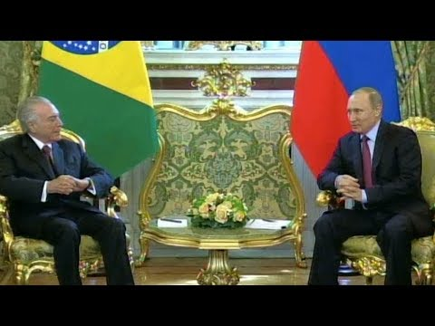 Improving trade ties is main focus as Russia welcomes Brazil's president