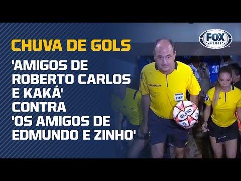 CHUVA DE GOLS! Amigos de Edmundo, Zinho, Roberto Carlos e Kaká fazem 14 a 11 em amistoso!