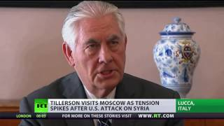 US fail to impress Putin with 'beauty of their weapons' in Syrian strike ahead of Tillerson's visit