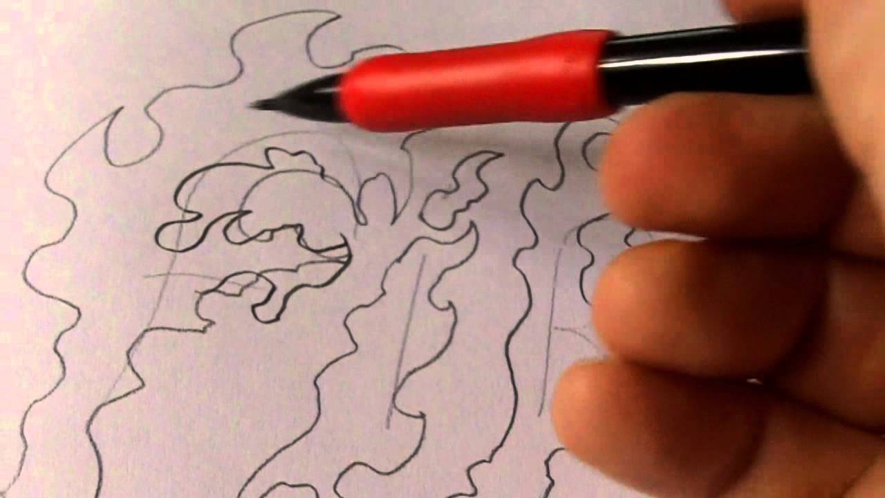 How To Draw Flame Letters Youtube