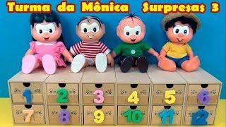 Turma  da  Mônica  Surpresas 3 - Escolha duas #gavetinhas e vamos brincar ! #TurmadaMonica