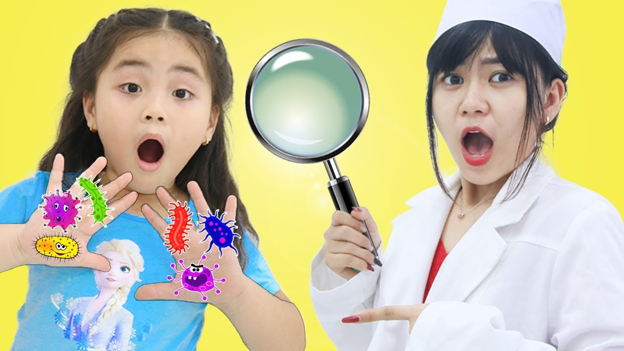 Annie and Cherry Kid's Story about Viruses  Kids Wash Hands and Stay Home