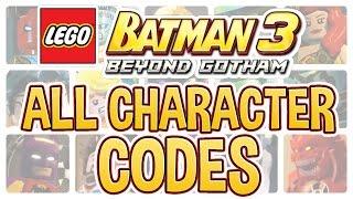 LEGO Batman 3 - All Character Codes