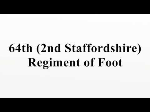 64th (2nd Staffordshire) Regiment of Foot