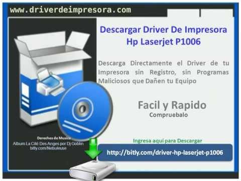 Descargar Driver De Impresora Hp Laserjet P1006