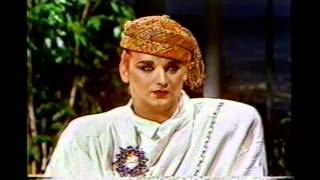 Boy George - First time on Johnny Carson 1984