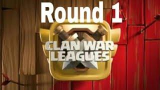 Clan war League Season 3 Round 1|Clash of Clan