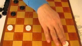 MVI 2494 Оппозиция (ч.4 продолжение) Видео урок по шашкам для начинающих. Opposition. Draughts.