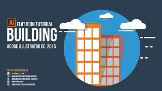 Building Flat Icon Design Tutorial - Adobe Illustrator cc 2015