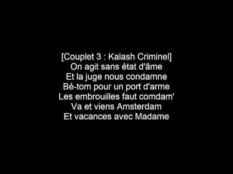 Kalash Criminel  Mélanger ft. KeBlack LYRICS