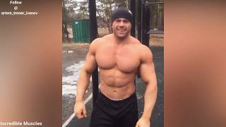 Tall Muscular Russian Bodybuilder Ivanov Crazy Workouts   Posing