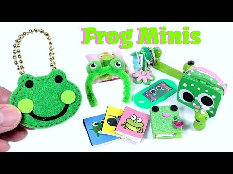 10 DIY Frog Miniatures - Purse, Lunchpail, Diary, Tablet, Notebooks, & More
