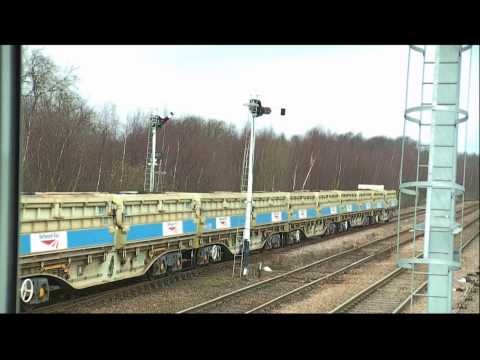 The last trains to enter Maltby Colliery construction spoil train 20130801