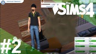 The Sims 4 — #2 Драка с соседом, поиск работы, баскетбол [Романенко]