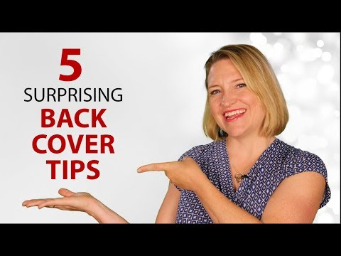 How To Sell Books with 5 Back Cover Tips