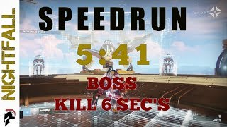 Destiny 2 - Nightfall Speedrun 5:41 - 6 seconds boss kill - Farming - A Garden World