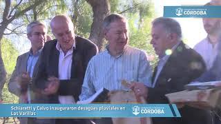 Schiaretti y Calvo inauguraron desagües pluviales en Las Varillas