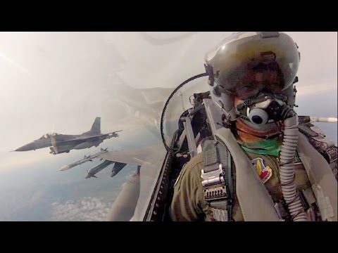 F-16 Fly Over Northwest Ohio & Michigan - Cockpit Video