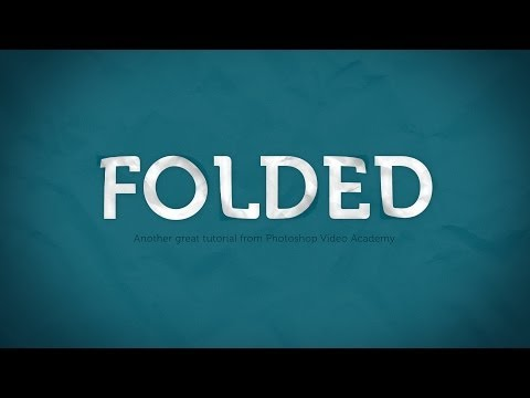 How to Create a Folded Paper Text Effect in Photoshop - YouTube