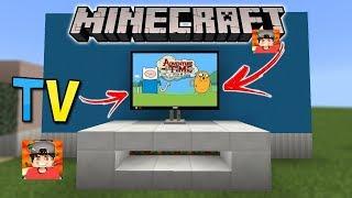 ⭐️Como fazer TV que funciona no Minecraft PE!!!