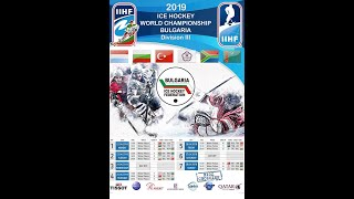 2019 IIHF ICE HOCKEY WORLD CHAMPIONSHIP Division III: Turkmenistan - Chinese Taipei