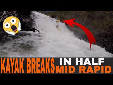 Kayak Explodes Avalanche Falls