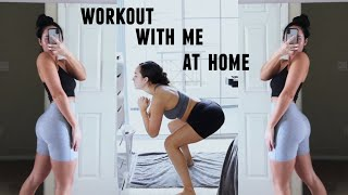 My EASY QUARANTINE BOOTY workout routine! (follow along with meee)