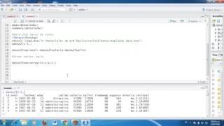 Tesis & Econometría: Importación y manejo de base de datos del programa R o R Studio