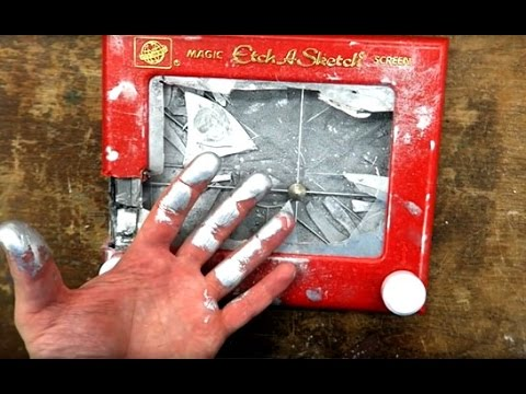 What's Inside an Etch a Sketch and See How it Works!