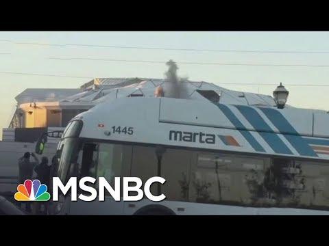 Atlanta City Bus Blocks View Of Imploding NFL Stadium   The 11th Hour   MSNBC