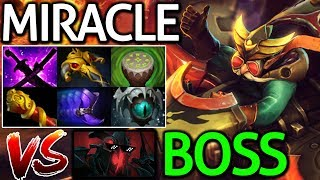 Miracle- Dota 2 [Gyrocopter] Hard Game VS Shadow Fiend Boss