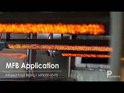 MFB Industrial Application - IR-RED ® FLAME Infrared Food Drying MFB970-120-FD l PP Systems
