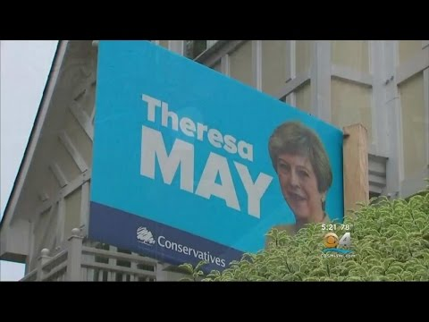 UK PM May's Conservative Party Suffers Stunning Upset In Election