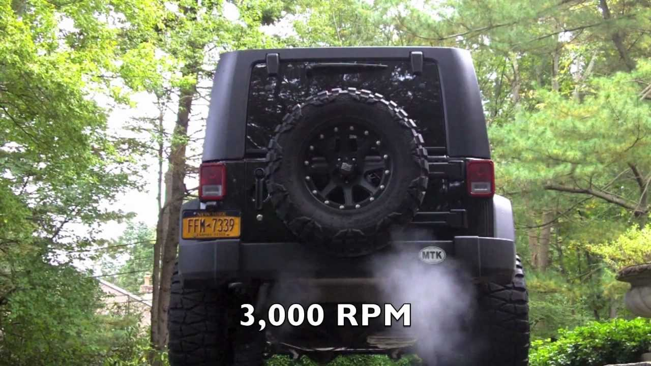 Custom Jeep Rubicon >> Gibson Exhaust LOUD REVS!!! and Walkaround Jeep Wrangler JKU Rubicon - YouTube