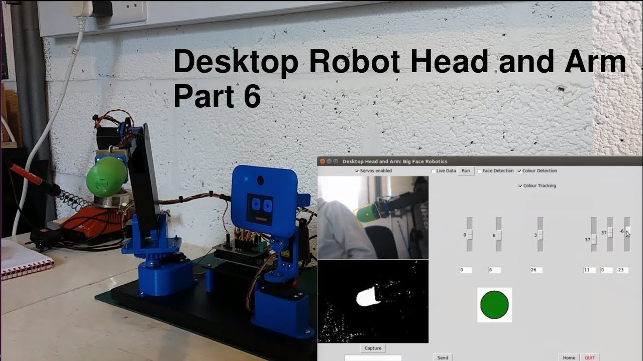 Desktop Robot Head and Arm - Part 6 - OpenCV and Python object detection  and tracking