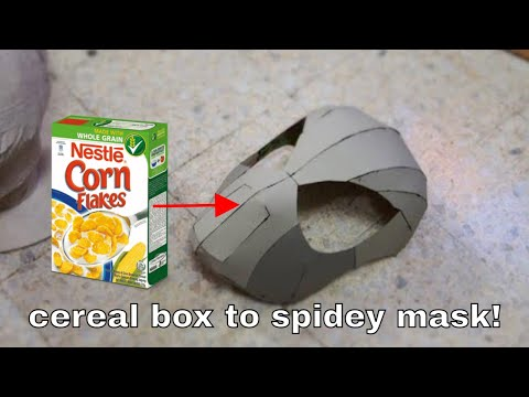 #53: How To Make Spider-Man Face Shell - Cereal Box (free PDF)