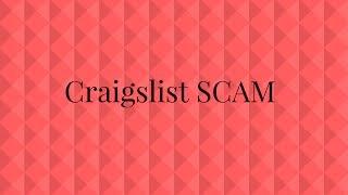 Craigslist SCAM with Cashier