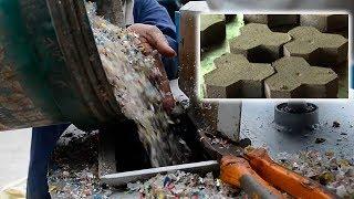 Строительные материалы из пластмассы - Производство пластмассовой тротуарной плитки