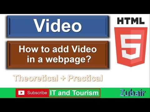 Add Video In HTML Webpage
