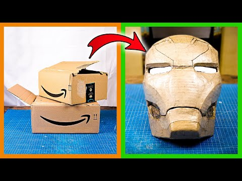 How to make Iron Man helmet out of cardboard