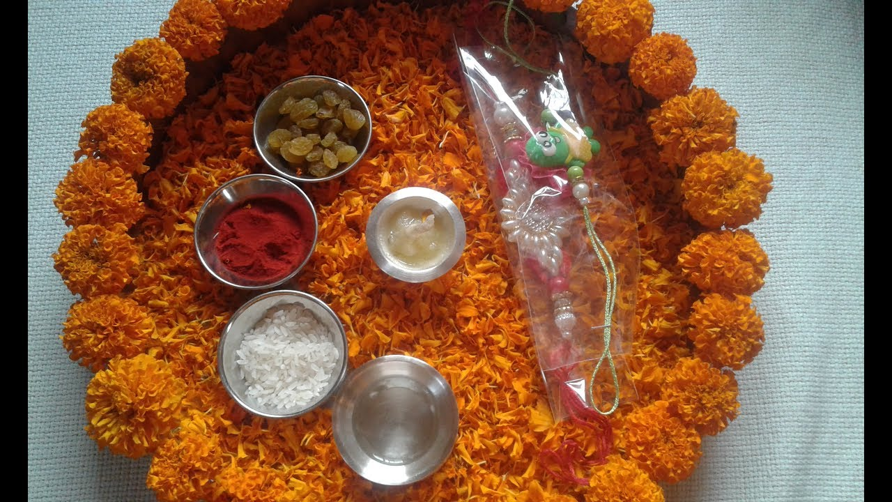 Thali decoration puja thali ideas for rakhi for Aarti thali decoration with pulses