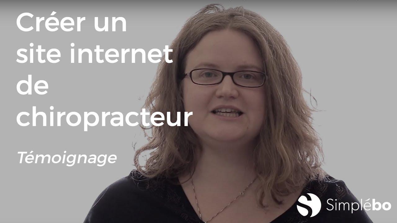 Chiropracteurs créez un site internet de chiropraxie - Témoignage client Simplébo Audrey Yargui AFC